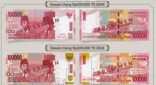 Mengenal Ciri Uang Baru Indonesia TE 2014