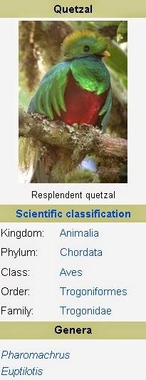 Quetzal Burung Keramat Suku Indian