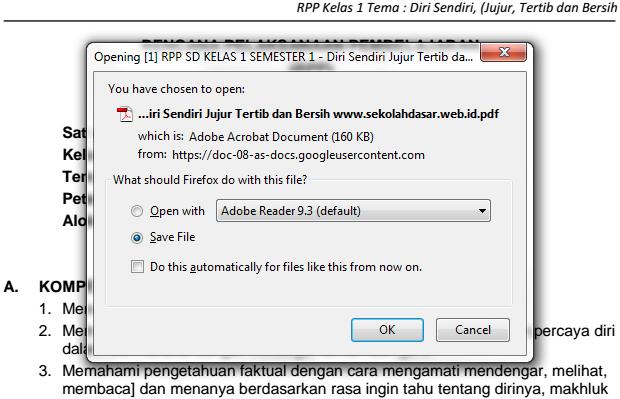 Cara Download RPP, Silabus SD Kurikulum 2013