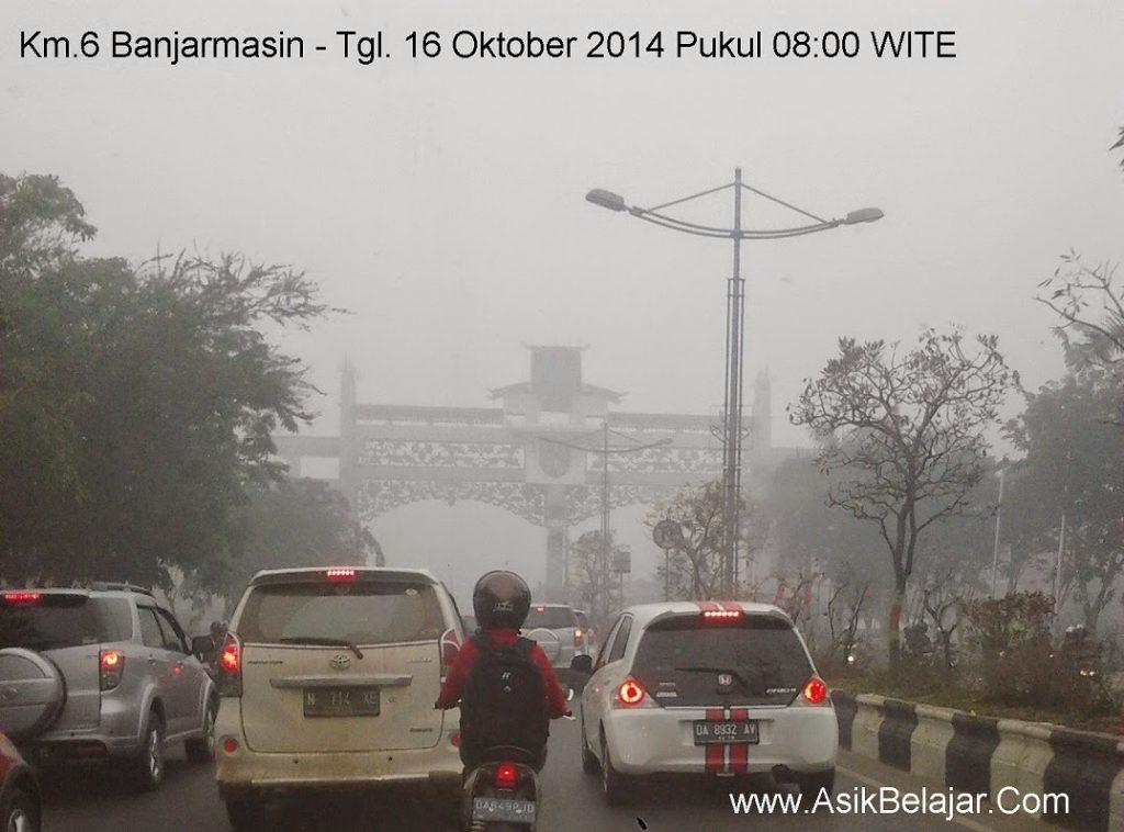 Kondisi Kabut Asap Banjarmasin-Banjarbaru
