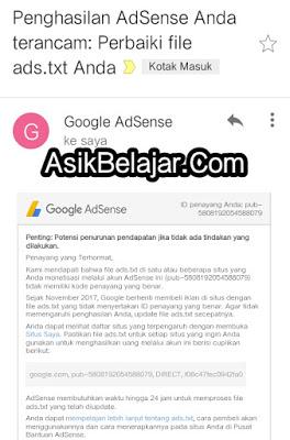 Cara Mengatasi Notifikasi Merah Akun Google AdSense