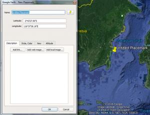 Pasang / memasukan koordinat di Google Earth